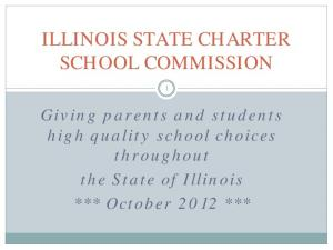 ILLINOIS STATE CHARTER SCHOOL COMMISSION