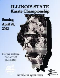 ILLINOIS STATE Karate Championship