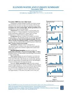 ILLINOIS WATER AND CLIMATE SUMMARY