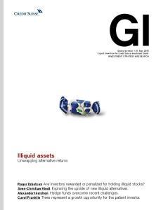 Illiquid assets. Unwrapping alternative returns
