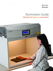 Illumination Guide. Choosing the right lighting to evaluate products