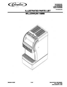 ILLUSTRATED PARTS LIST MILLENNIUM II 6000