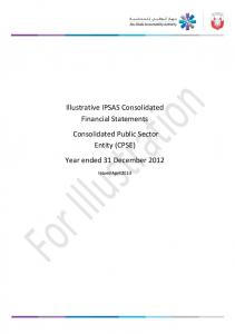 Illustrative IPSAS Consolidated Financial Statements Consolidated Public Sector Entity (CPSE) Year ended 31 December 2012