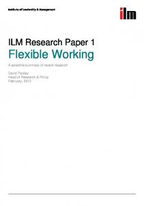 ILM Research Paper 1 Flexible Working