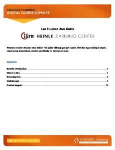 ilrn Student User Guide