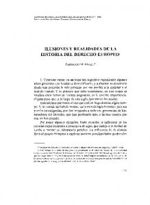 ILUSIONES Y REALIDADES DE LA HISTORIA DEL DERECHO EUROPEO]