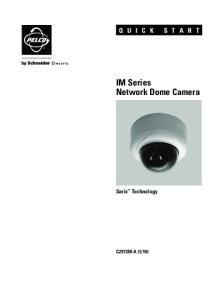 IM Series Network Dome Camera