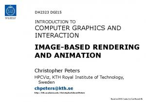 IMAGE-BASED RENDERING AND ANIMATION