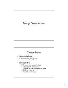 Image Compression. Image Data