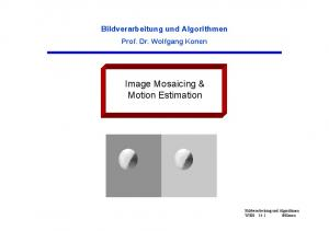 Image Mosaicing & Motion Estimation
