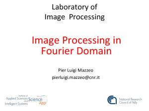 Image Processing in Fourier Domain
