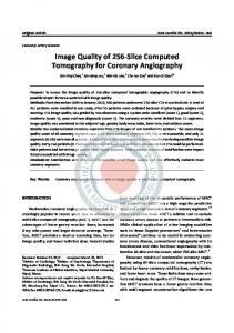 Image Quality of 256-Slice Computed Tomography for Coronary Angiography