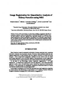Image Registration for Quantitative Analysis of Kidney Function using MRI