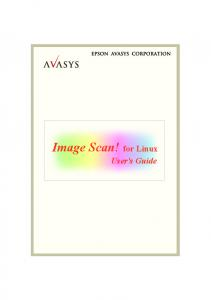 Image Scan! for Linux. User's Guide