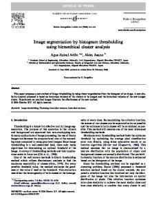 Image segmentation by histogram thresholding using hierarchical cluster analysis