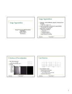 Image Segmentation. Image Segmentation. Detection of Discontinuities. Line Detection