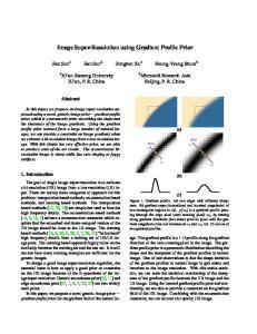 Image Super-Resolution using Gradient Profile Prior