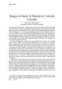 Images of Islam: A Murder in Colonial Calcutta