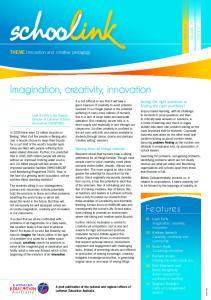 Imagination, creativity, innovation