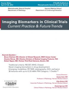 Imaging Biomarkers in Clinical Trials Current Practice & Future Trends