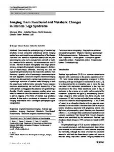 Imaging Brain Functional and Metabolic Changes in Restless Legs Syndrome