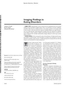 Imaging Findings in Eating Disorders