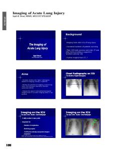 Imaging of Acute Lung Injury