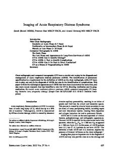 Imaging of Acute Respiratory Distress Syndrome
