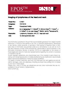 Imaging of lymphomas of the head and neck