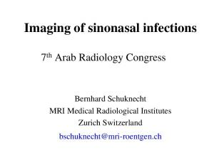 Imaging of sinonasal infections