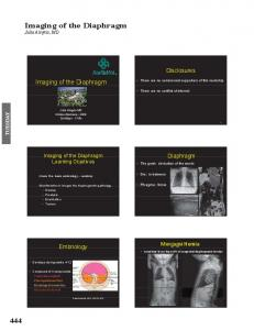 Imaging of the Diaphragm Julia Alegria, MD