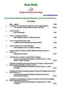 Iman Books. List of Books