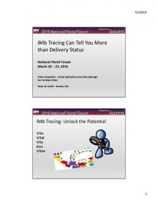IMb Tracing Can Tell You More than Delivery Status