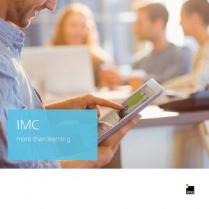 IMC. more than learning