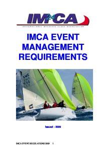 IMCA EVENT MANAGEMENT REQUIREMENTS