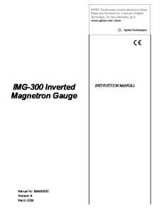 IMG-300 Inverted Magnetron Gauge