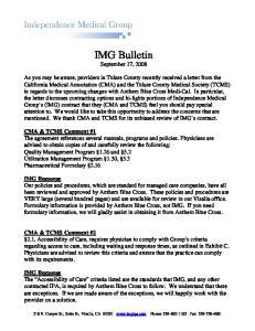 IMG Bulletin September 17, 2008