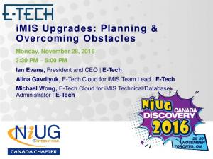 imis Upgrades: Planning & Overcoming Obstacles