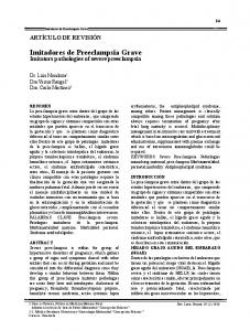 Imitadores de Preeclampsia Grave