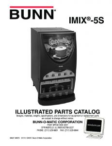 IMIX -5S ILLUSTRATED PARTS CATALOG