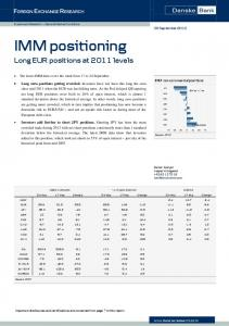 IMM positioning Long EUR positions at 2011 levels