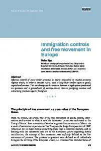 Immigration controls and free movement in Europe