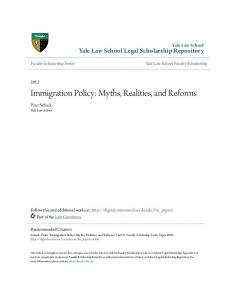 Immigration Policy: Myths, Realities, and Reforms