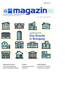 Immobilienwirtschaft: Eine Branche in Bewegung