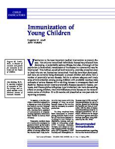 Immunization of Young Children
