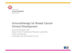 Immunotherapy for Breast Cancer Clinical Development