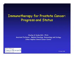 Immunotherapy for Prostate Cancer: Progress and Status
