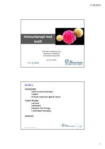 Immunterapi mot kreft