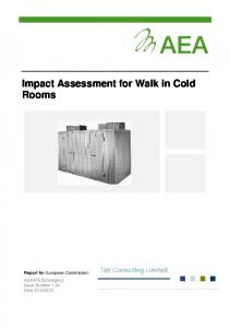 Impact Assessment for Walk in Cold Rooms