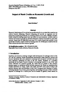 Impact of Bank Credits on Economic Growth and Inflation